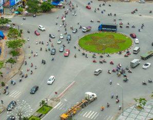voorrand voor fietsers op rotonde